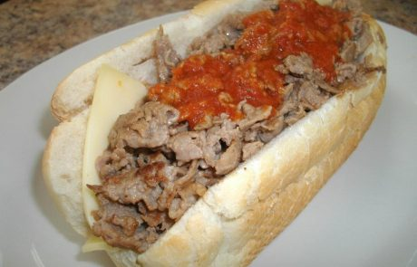 Cheese Steak With Sauce